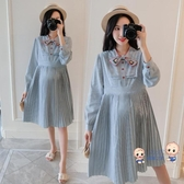 孕婦洋裝 秋裝連身裙款套裝外出時尚款孕媽潮裝秋孕婦寬鬆長款大碼2020 M-2XL