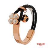 瑞士TRUeE 瑞時寶嘉 TSB16005真皮編織繩鋼手鍊