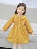 爆款熱銷兒童連身裙女童春裝連身裙新款韓版兒童裝純棉裙子春季女寶寶洋氣公主裙聖誕節