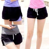 運動褲-S-3XL瑜珈女孩外罩網布運動短褲KiwiShop奇異果0717【STD7802】
