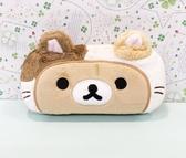 【震撼精品百貨】Rilakkuma San-X 拉拉熊懶懶熊~拉拉熊眼鏡盒-裝扮貓#64962