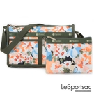 LeSportsac - Standard 雙口袋斜背包-附化妝包 (綻放藝彩) 7519P F906