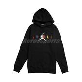 Nike 長袖T恤 Jordan Hoodie 黑 彩色 男款 帽T 喬丹 運動休閒 【PUMP306】 CT6293-010