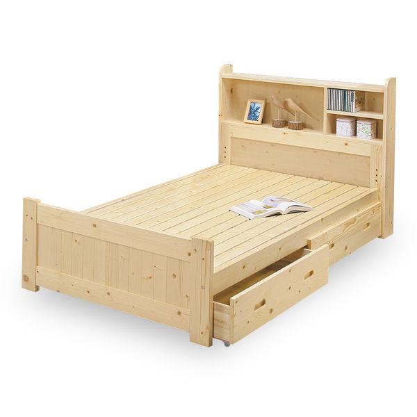 床架【時尚屋】[NM7]小蜜蜂3.5尺抽屜加大單人床NM7-60-5免運費/免組裝/臥室系列