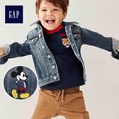 Gap男幼童Gap x Disney 迪士尼系列米奇牛仔夾克496127-中度水洗