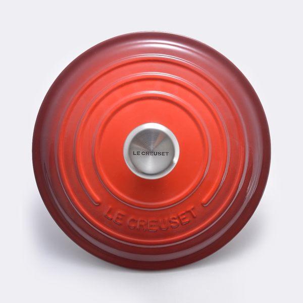 Le Creuset 新款圓形琺瑯鑄鐵鍋 18cm 1.8L 櫻桃紅 法國製【Casa More美學生活】