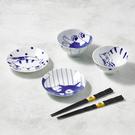 日本美濃燒-仲良貓友碗盤禮盒組-附筷(6件式)
