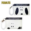 【日本正版】史努比 大臉系列 彈力 票卡夾 票夾 證件套 悠遊卡夾 Snoopy PEANUTS 036731 036748