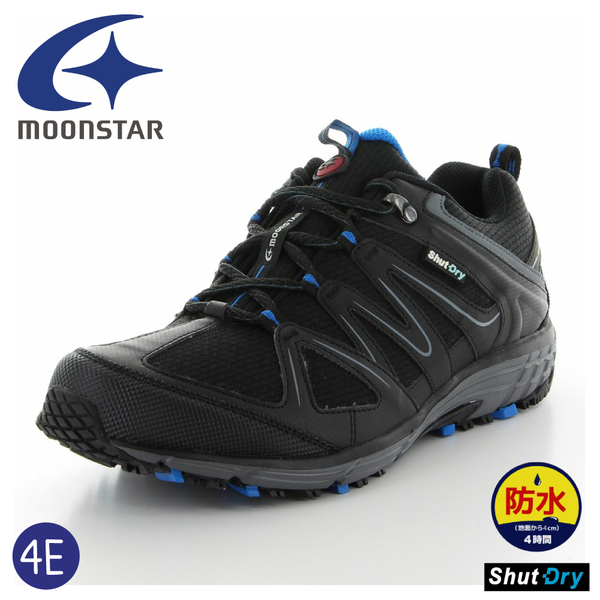 【MoonStar 月星 男 健走鞋《黑》】SPLT SDM01/防水戶外運動鞋/登山鞋