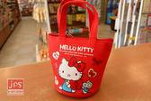 Hello Kitty 凱蒂貓 手提零錢包 蝴蝶結 紅