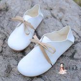 娃娃鞋 秋季新款森系圓頭小白鞋平底兩穿娃娃鞋休閒文藝范學生鞋女單鞋潮 3色35-40