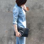 斜背包-韓東大門款歐美風格麂皮迴紋針包-Catsbag-002910515