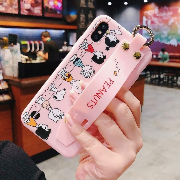 【SZ15】史努比家族腕帶 iphone XS MAX手機殼 iphone 11Promax XR XS 7 8plus i6s plus手機殼 iphone X