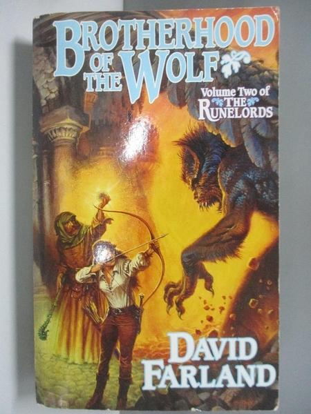 【書寶二手書T6/原文小說_ALA】Brotherhood of the Wolf_Farland, David