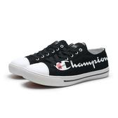 CHAMPION 黑 帆布鞋 英文大logo 休閒鞋 情侶鞋 男女 (布魯克林) 832210211 男 832220211 女
