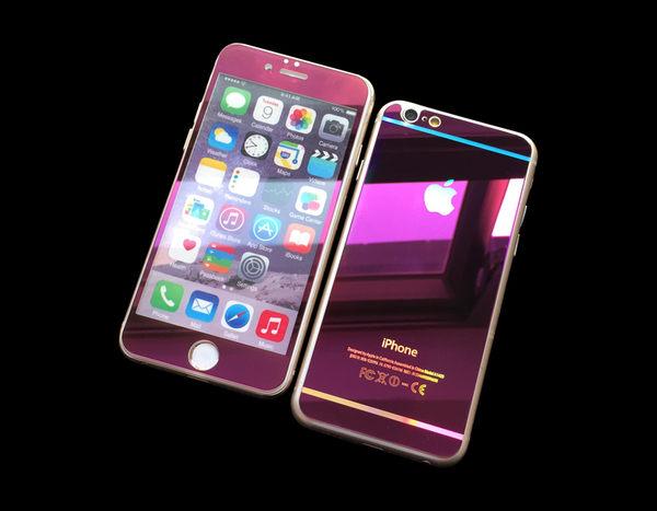 【世明國際】iPhone6 PLUS 滿板 彩色電鍍鋼化玻璃保護貼 強化玻璃膜 雙面 前後 i6+ 5.5吋 2.5D 9H