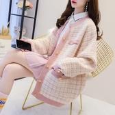 針織外套小香風毛衣外套女秋冬季韓版寬鬆網紅慵懶風中長款針織開衫潮