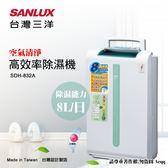 豬頭電器(^OO^) - 【台灣三洋 SANLUX】8L空氣清淨高效率除溼機(SDH-832A)