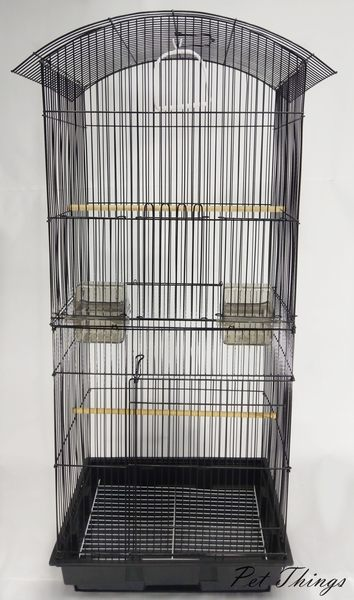 三色 加高 雙層 黑色圓弧型造型鳥籠 抽屜鳥籠 鸚鵡籠 蜜袋鼯籠 - 寵物東西 Pet Things