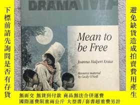 二手書博民逛書店Collins罕見Drama – Mean To Be Free