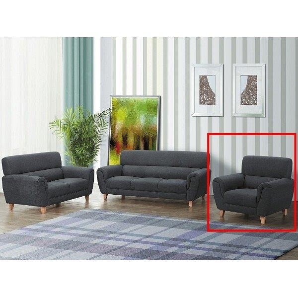 沙發 PK-269-2 808型布紋皮沙發主人椅【大眾家居舘】