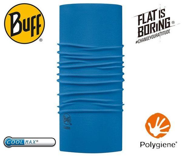 丹大戶外【BUFF】西班牙魔術頭巾 coolmax春夏款抗UV BF111426-795-10-00 素面法式藍