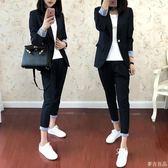 小西裝外套秋新款女英倫chic套裝夏季韓版休閒時尚兩件套  麥吉良品