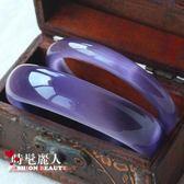 開光紫羅蘭貓眼石手鐲子女水晶手鏈招桃花轉運飾品手環 全店88折特惠