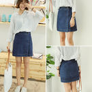(全館一件免運)DE SHOP~牛仔短裙 韓版高腰設計牛仔短窄裙【KK857】。S/M/L