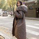 喬依外套 高品質 大毛領 加厚 保暖 韓國空運 超寬鬆版 中長板 保暖外套【D43】
