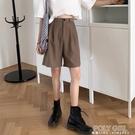 五分寬管褲女夏高腰顯瘦寬鬆百搭薄款法式復古港味垂感休閒褲短褲 夏季新品