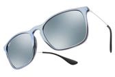 RayBan 水銀太陽眼鏡 RB4187F 631930 (銀藍-藍水銀) 人氣經典流行款 # 金橘眼鏡