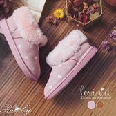靴子 蝴蝶結刺繡毛毛保暖雪靴-Ruby s 露比午茶