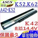 ASUS A42-K52,A32-K52 電池(8芯/保固最久)-華碩  K42D,K42F,K42J,K42JA,K42JB,K42JC,K42JE,K42JR,K42N
