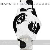 【南紡購物中心】MARC BY MARC JACOBS國際精品可愛乳牛矽膠腕錶-白/42mm MBM4026