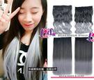 來福,W47髮片120g奶奶灰無痕一片式大波浪捲髮直髮接髮片,售價268元