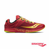 SAUCONY TYPE A8 專業競速鞋-艷紅x芥黃