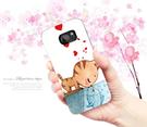 三星 Samsung Galaxy S7 EDGE SM-G935FD G9350 手機殼 軟殼 保護套 W 兩個世界 貓戀魚