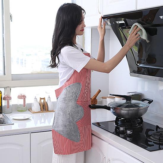圍兜 烘焙 工作服可調節 大口袋 廚房 防油罩衣 咖啡廳 煮飯 掛脖擦手圍裙 【T008】米菈生活館