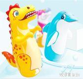 不倒翁玩具寶寶健身小孩拳擊兒童鍛煉大號充氣早教益智玩具 QQ5781【艾菲爾女王】