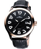 KATINO 紳士家大錶徑機械腕錶-金 K5739DRBL
