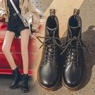 馬丁靴女鞋子女潮ins英倫風2021年新款百搭春秋單靴八孔瘦瘦短靴一米陽光