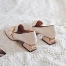 粗跟單鞋女鞋2020新款春季網紅高跟鞋春秋英倫風小皮鞋中跟樂福鞋 【端午節特惠】