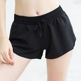 瑜珈褲(短褲)-網孔透氣雙層防走光女健身褲73ob11【時尚巴黎】