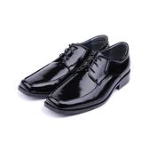 SARTORI 綁帶寬楦方頭紳士皮鞋 黑 男