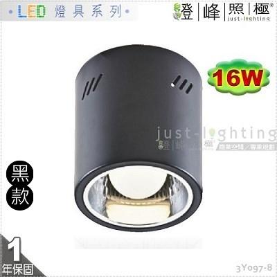 【吸頂筒燈】E27 LED 16W 17公分 黑款 台灣晶片 大瓦數 全電壓 商空首選 【燈峰照極】3Y097-8