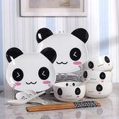 碗筷套裝家用4人卡通陶瓷餐具禮品碗禮盒瓷器碗碟韓式創意可愛   夢曼森居家