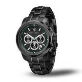 MASERATI 瑪莎拉蒂 ACTIVE POLO黑鋼多功能腕錶45mm(R8873637004)