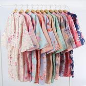 和服浴衣 和服睡衣 睡袍情侶日式和服浴衣全棉睡衣長睡裙汗蒸服