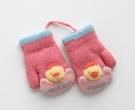 兒童手套 方便脫戴 0~4歲小童兒童卡通春季保暖可愛毛線半指寶寶手套【快速出貨八折搶購】